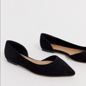 ASOS Wide Fit Virtue d'orsay pointed ballet flats